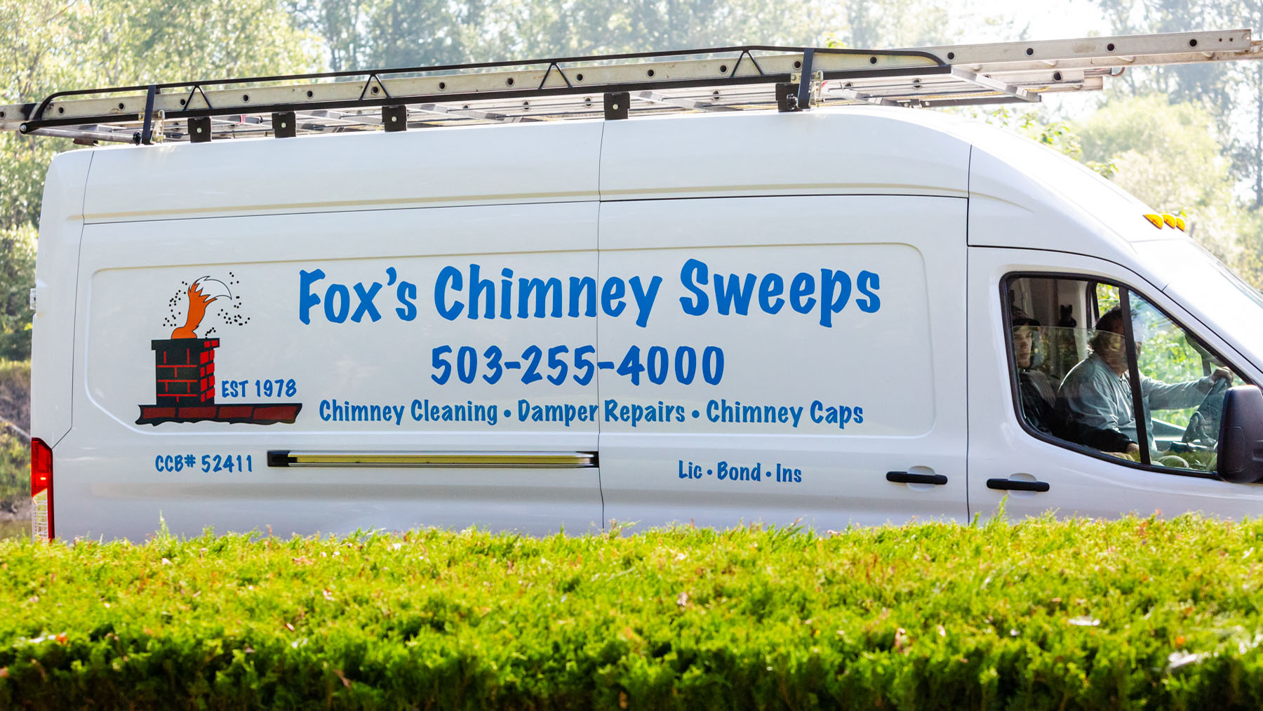 Fox's chimney sweep truck